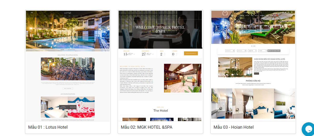 Thiết kế website khách sạn resort