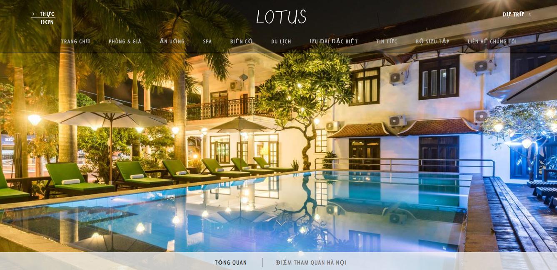 Mẫu website khách sạn Lotushotel
